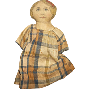 SOLD A Very Sweet 6.5 Inch Old Rag Doll