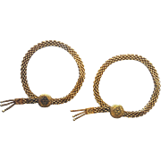 Victorian Style 14 Karat Yellow Gold Matching Engagement and Wedding Bracelets