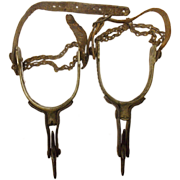 SOLD Brass Buermann Spurs With Blacksmith Make-do