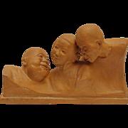 Terra Cotta Sculpture By Gaston Hauchecorne