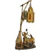 SOLD Austria Vienna Cold Painted Orientalist Table Lamp