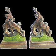 1932 Cowboy Bookends & Bucking Horses by Paul Herzel