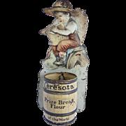 Antique Match Holders, Vintage Advertising Ceresota Flour Match Holder