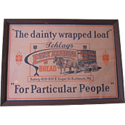 Vintage Advertising, Vintage Posters, Schlags Bakery Pony Express Bread Advertising Poster