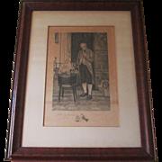 Vintage Prints, Antique Prints, Antique Lithograph by W Dendy Sadler