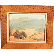 Vintage Southwestern Signed Landscape Painting by Listed California Artist Emilie Hall