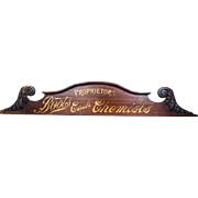 Antique Advertising Boots Cash Chemists Vintage Wood Sign