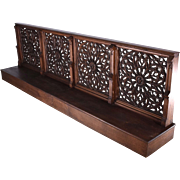 SOLD Antique French Neogothic Oak Wood Prayer Railing Gothic Church Kneeler 112""
