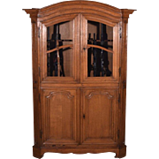 1700's Antique French Provincial Long Gun/Rifle/Shotgun Cabinet in Solid Oak