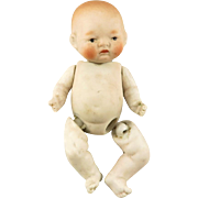 SOLD All Bisque Jointed Miniature Baby Doll - Red Tag Sale Item