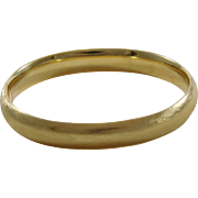 SALE Classic 14k Yellow Gold Bangle Bracelet