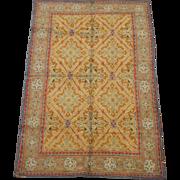 SALE 4X7 Cotton Agra Circa 1920 Hand-Knotted Oriental Area Rug Carpet (3.11 x ...