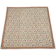 SALE 1920's 6X7 European Needle Point Hand-Knotted Wool Area Rug Carpet (6.5 ...