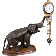 Bronze Elephant Swing Arm Clock