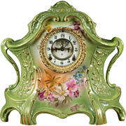 Ansonia Porcelain Mantle Clock La Layon from Bonn, Germany