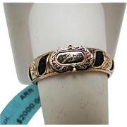 Stunning Victorian Memorial Woven Hair Ring in 14k Yellow Gold