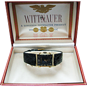 New/ Old Stock Vintage Handsome Gent's Wittnauer Watch in 14k Yellow Gold Case
