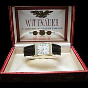 Vintage Handsome Gent's Wittnauer Watch in 14k Yellow Gold Case & Original Box