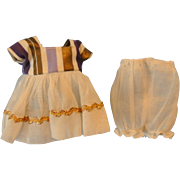 Tagged Ginny dress and matching bloomers.