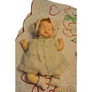 "Cuddly 1960s Vogue 12"" Baby Dear Once A Musical Doll"