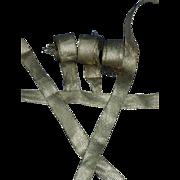Six lengths braided ribbon, gold metallic passementerie