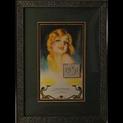 1931 Art Deco Framed Advertising Calendar, Westinghouse/J. Oscar Murdough Company