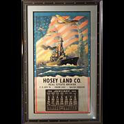 "1944 Calendar ""The Star Spangled Way,"" Hosey Land Company, Charles Champe artist"