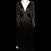 Vintage Diane Von Furstenberg Runway Grecian Draped Maxi Gown retail $528 With Tags