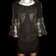 Couture Christian Lacroix 1980 Suit Shantung Guipure lace