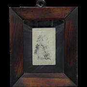18th Century American Folk Art Ink Silhouette Portrait of a Gentleman,Circa 1785