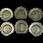 Meriden Aesthetic Japonsim Silverplate Set of 6 Dishes