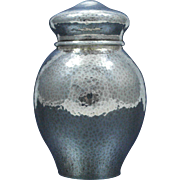 Towle Sterling Silver Hand Hammered Tea Caddy, Circa 1912