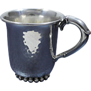Sterling Silver Hand Hammered Mug Cup