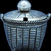Chinese Export Sterling Silver Basket Form Salt Cellar