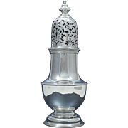 London Large Sterling Silver Sugar Caster Muffineer