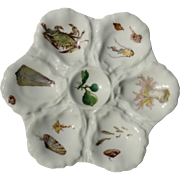 Sea Creatures Oyster Plate - Haviland Limoges