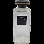 SALE Vintage Arpege Extrait De Lavin Made in France Large Glass Perfume Cologne Bottle