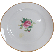 SALE Vintage Noritake Sharon #3057 Porcelain Dinner Plate with Gold Trim & Center Rose