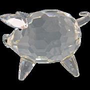 SALE Retired Vintage Large Swarovski Silver Crystal Glass Pig Figurine # 7638 NR 065