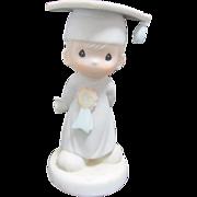 """SALE Vintage Enesco Precious Moments Porcelain """"God Bless You Graduate"""" Figurine"""