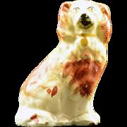 SALE 1840's Porcelain Staffordshire Dog