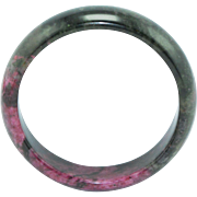 SALE Extremely Rare Natural Pink & Green Floral Jade Bracelet
