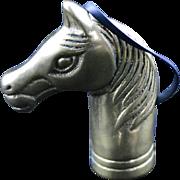 SALE Vintage Brass Horse Head Cane/Walking Stick Top