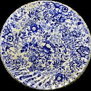 SALE James Kent Staffordshire Old Foley Blue Chintz Plate