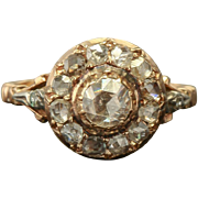 ANTIQUE GEORGIAN ERA FLEMISH DUTCH 1.60 Cttw DIAMONDS RARE CLUSTER RING