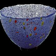 Kosta Boda Artist Collection Glass Bowl, Dark Blue