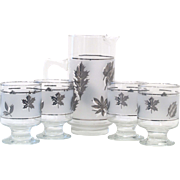Libbey Silver Foliage Cocktail Set