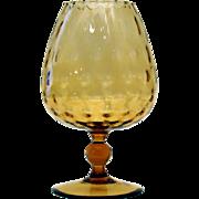 Midcentury Hand Blown Art Glass Snifter Vase
