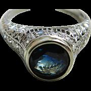 SALE Edwardian Engagement Ring 1.5 Carat Natural Sapphire 0.50 cttw Old European Cut ...