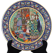 "Villeroy & Boch Russian Fairy Tale- ""The Firebird"" is a Limited Edition Plate Depict"